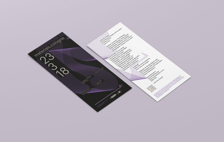Konferenzflyer | Grafik Design | DinLang | Vorder- und Rückseite