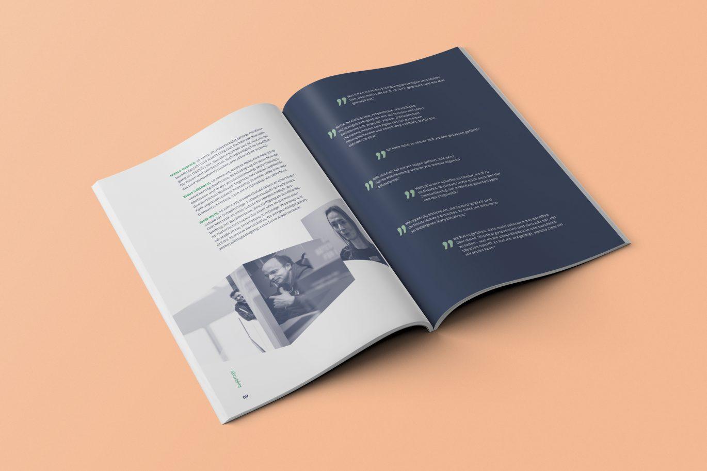 Broschüre | Aufmacher | Doppelseite | Editorial Design
