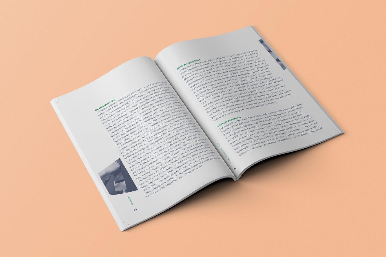 Broschüre Innenseite Fließtext