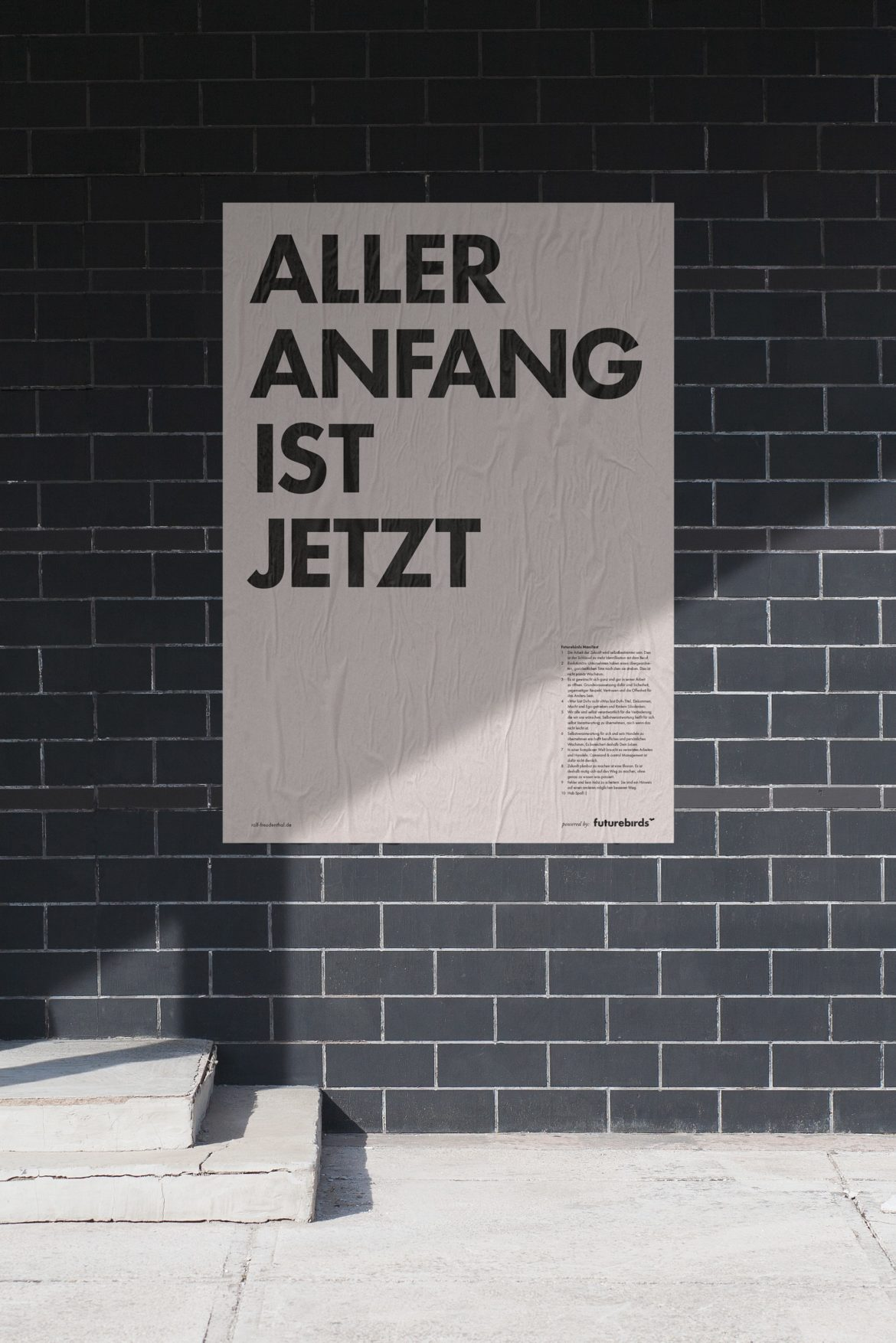 Leben im Jetzt | Posterdesign | Motiv Typografie | Impulsvortrag