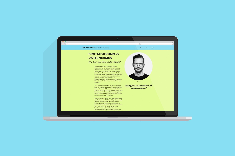 Website design | UX UI Design | Online Design | Über mich | Onepager