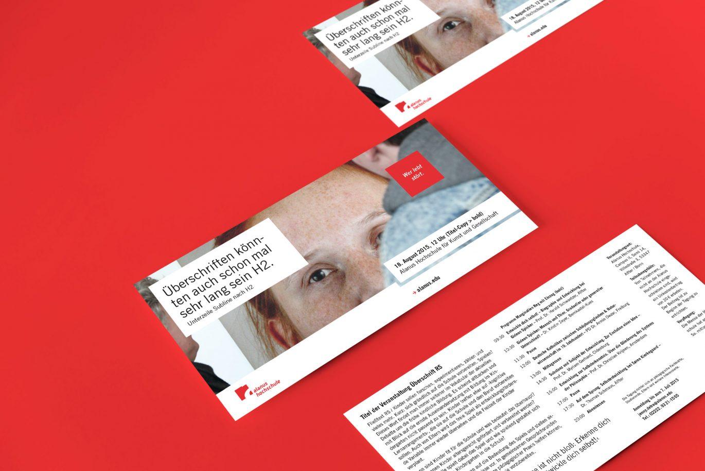 Din Lang Flyer |Hausfarbe |Vorder- und Rückseite |Gestaltungsraster |Corporate Design