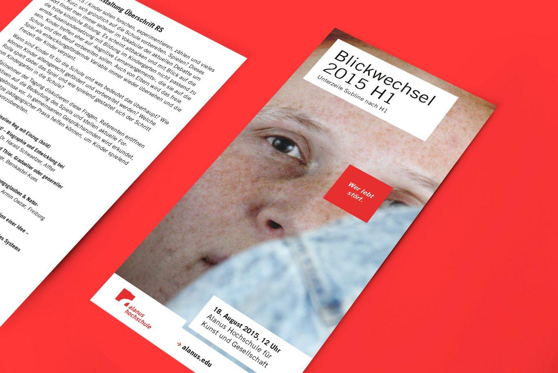 Din Lang Flyer |Hausfarbe |Vorder- und Rückseite |Unternehmensvisualisierung