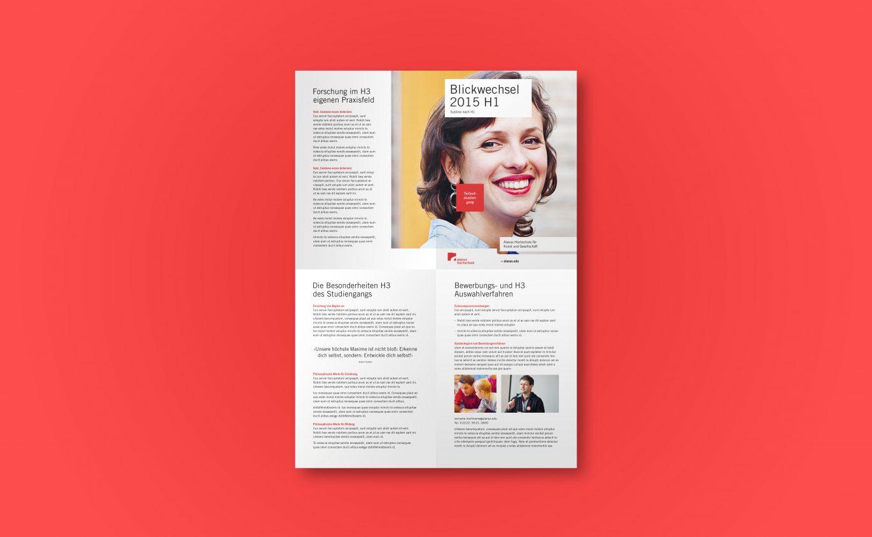Flyer Design |Corporate Design |reduziertes Design |Gestaltungsraster |Wiedererkennung