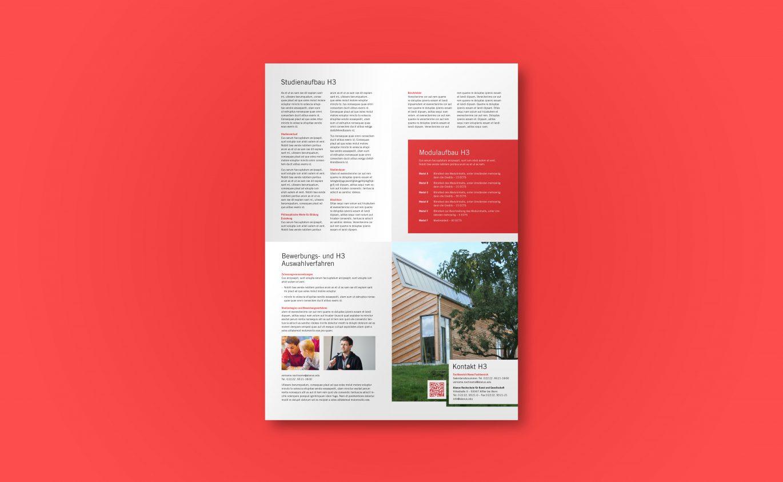 Flyer Design |Hausfarbe |reduziertes Design |Unternehmensvisualisierung