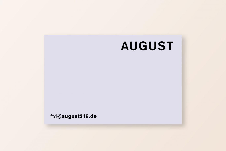 Visitenkarte Flieder