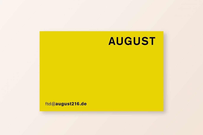Visitenkarte Vorderseite | Gestaltungselement | Farbsystem | Corporate Design