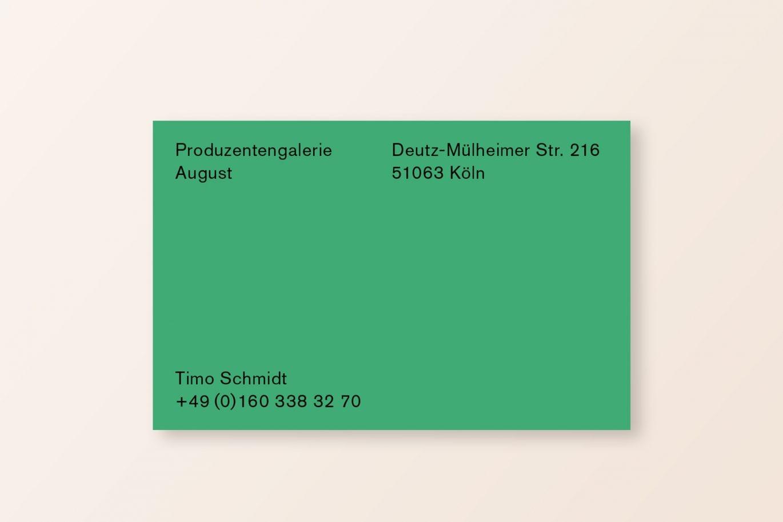 Visitenkarte Vorderseite | Produzentengalerie | Farbsystem | Corporate Design | Künstler