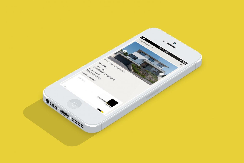 Website Mobilansicht | Online Kommunikation |Responsive Web Design | Architektur