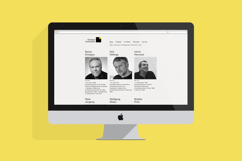 Website Desktop Ansicht