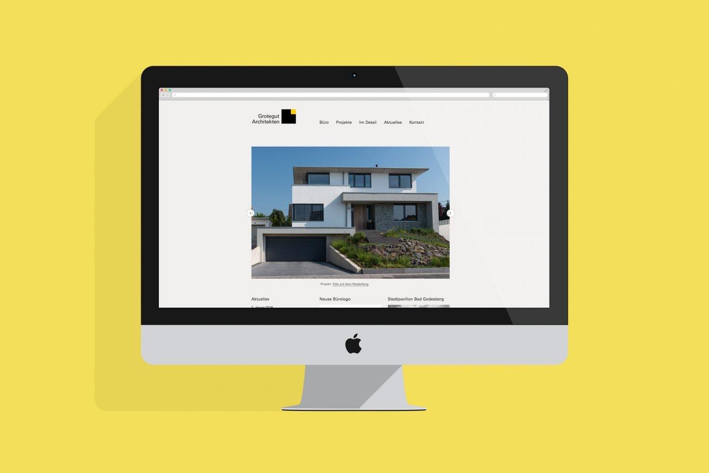 Website Desktop Ansicht | Online Kommunikation |Responsive Web Design | Aktuell