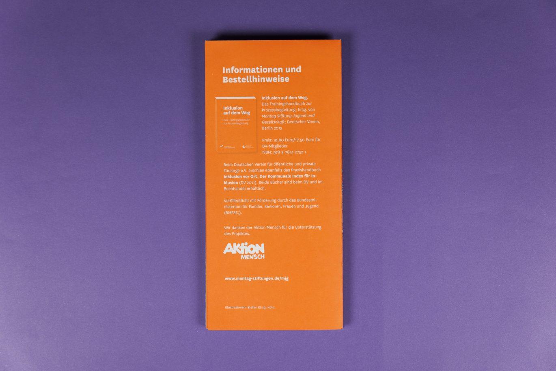 Rückseite | DIN Lang Flyer | Illustration | Druckgestaltung