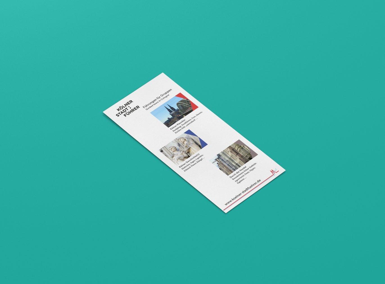Flyer Rückseite | Stadtführer | DIN Lang | Unternehmenserscheinungsbild