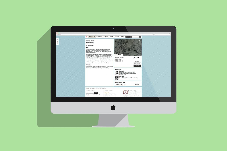 Web Design | Internetauftritt | Desktop Ansicht | visuelle Gestaltung
