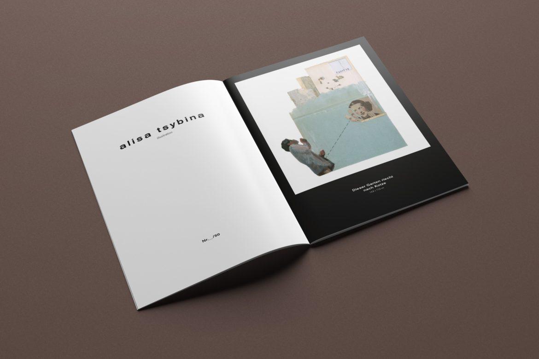 Innenseite | Broschüren Portfolio | Künstlerin | Druck Portfolio