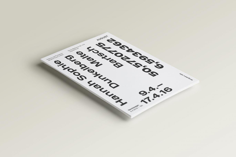 Flyer –Malte Bartsch + Hannah Sophie Dunkelberg