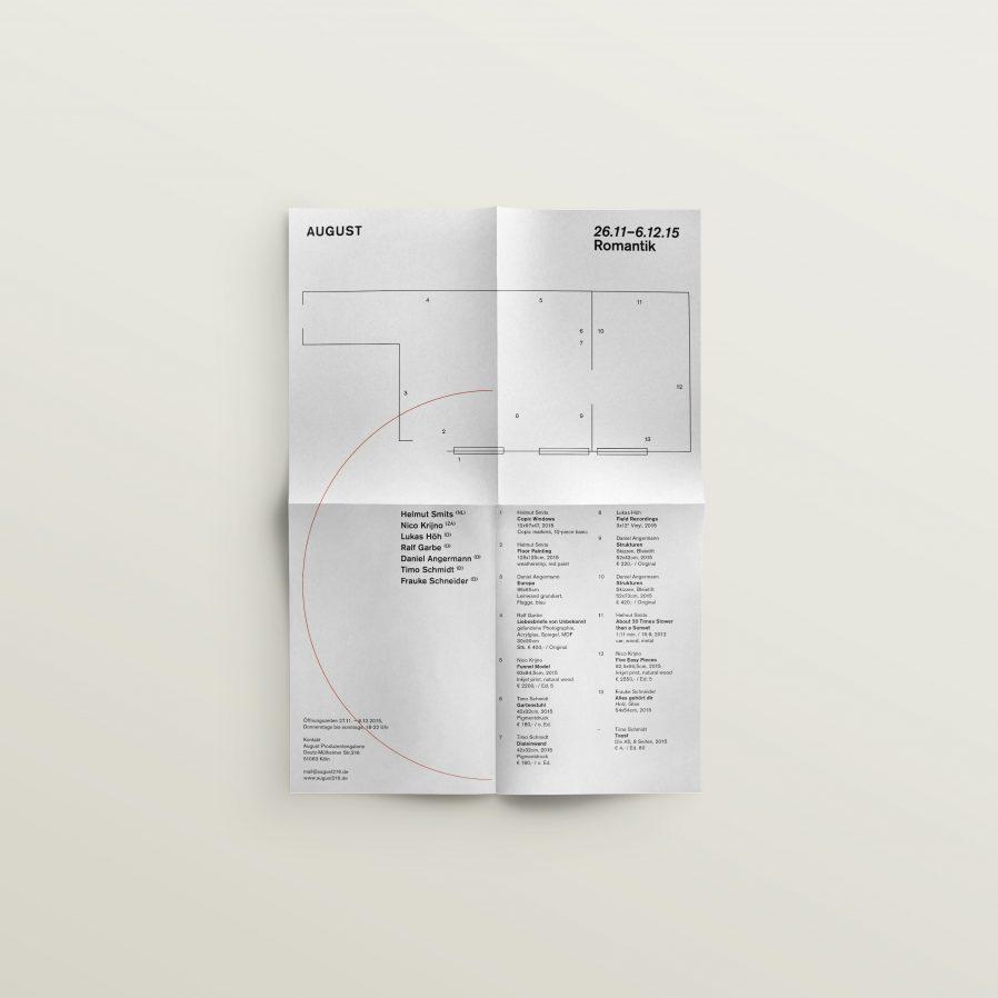 Faltplakat | Ausstellungsdesign | Kunst | Werkverzeichnis
