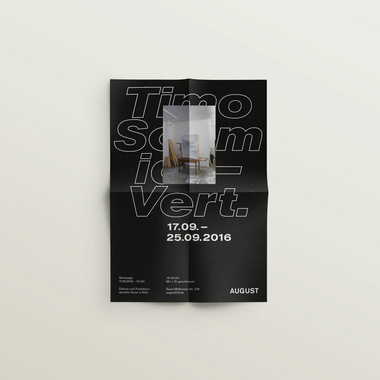Timo Schmidt – Poster für die Ausstellung »Vert.«