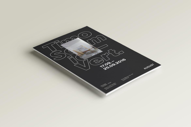 Flyer | Vernissage | Wort Bildkomposition | Künstler