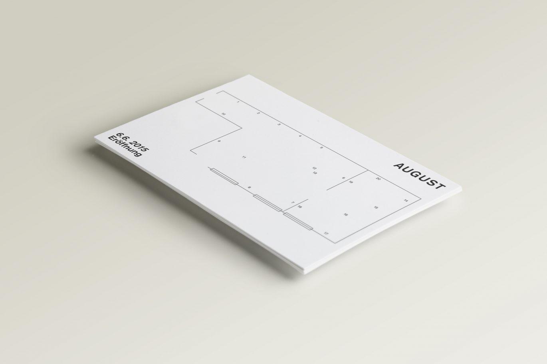 Ausstellungsplan | Produzentengalerie | Typografie | technische Zeichnung