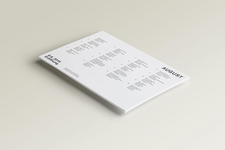 Ausstellungsplan | Produzentengalerie | Typografie | Unternehmensbild