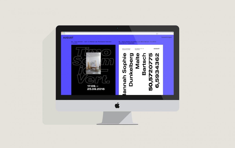 Desktop Ansicht | Responsive Design | individuelles Design | Gestaltungselement