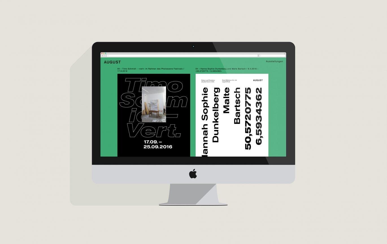 Desktop Ansicht | Responsive Design | Corporate Design | Gestaltungselement