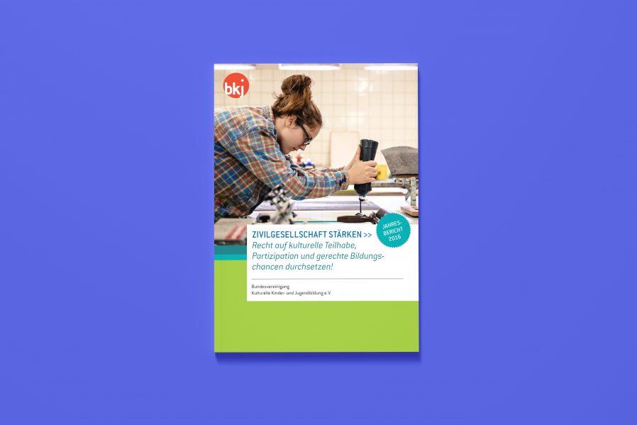 BKJ Jahresbericht Titel | Kulturelle Bildung | Bericht Gestaltung | Unternehmensgestaltung