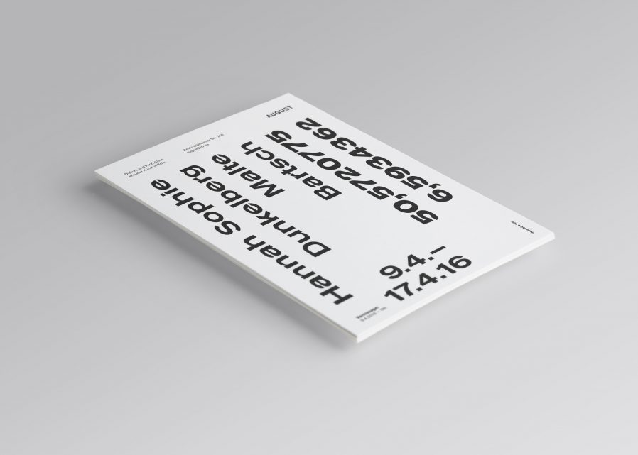 Ausstellungsdesign | Einladungskarte |Typografie | ARTCOLOGNE