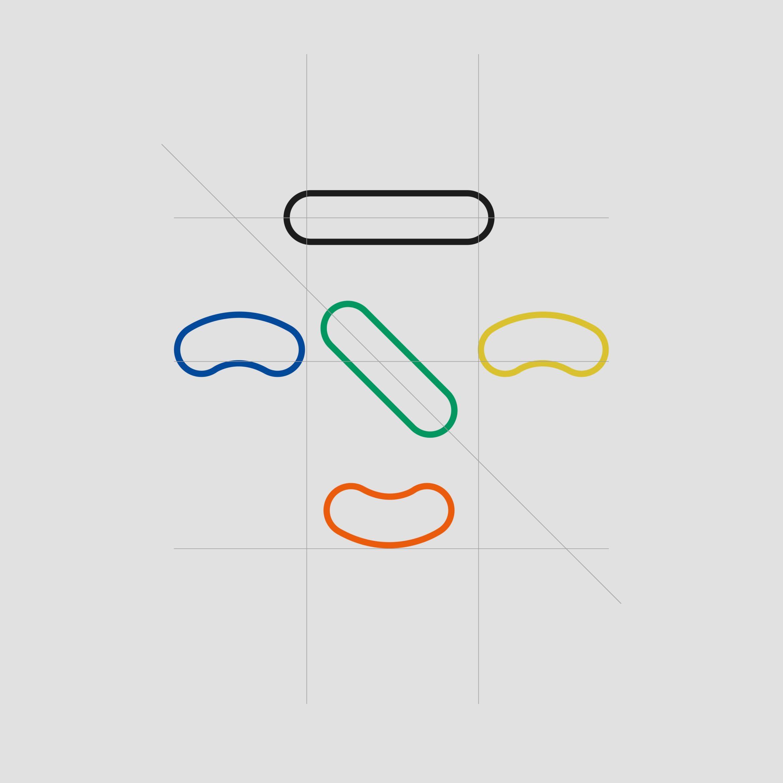 Konstruktion | Firmenzeichen Design | Netzwerk | soziale Arbeitsweise | Farbgebung