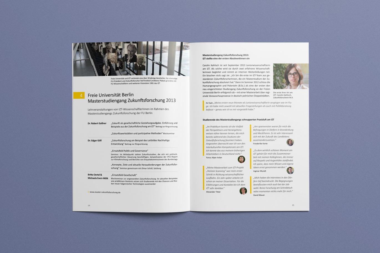 Listen | Innenseite | Jahresbericht | Corporate Design | Offline Medium
