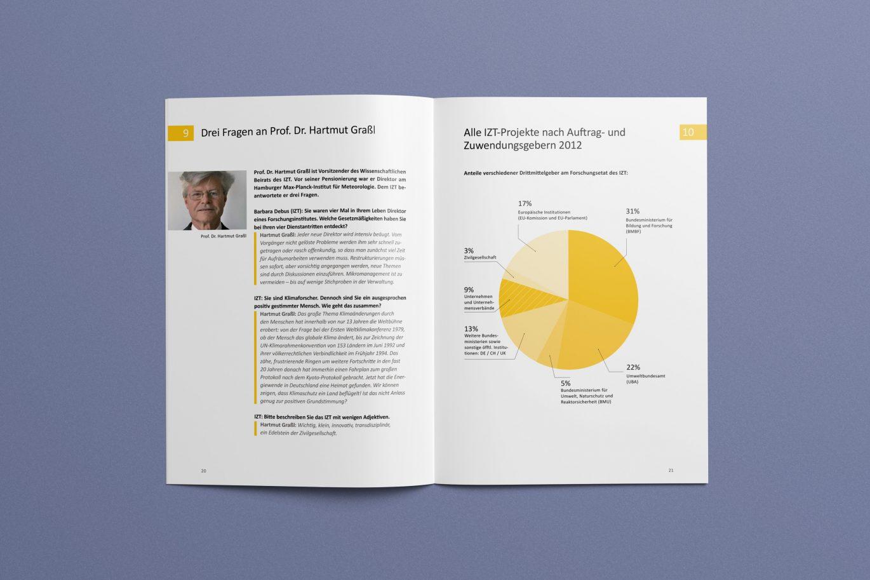 Informationsgrafik | Innenseite | Tortendiagramm | Corporate Design | Gestaltungsprinzipien