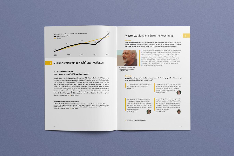Informationsgrafik | Innenseite | Zitate | Corporate Design | Gestaltungsprinzipien
