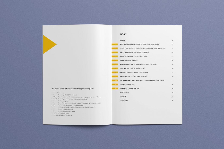 Inhaltsverzeichnis | Jahresbericht | Corporate Design | Gestaltungsprinzipien