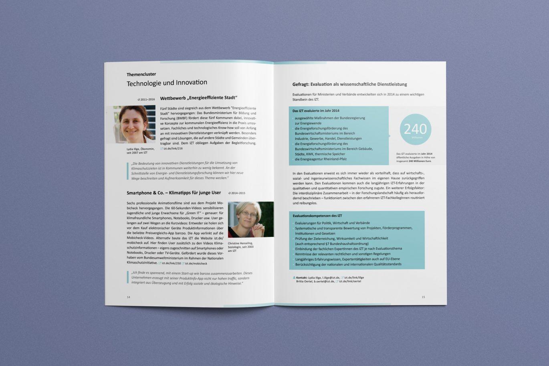 Gestaltungsprinzipien | Innenseite | Jahresbericht | Corporate Design | Offline Medium