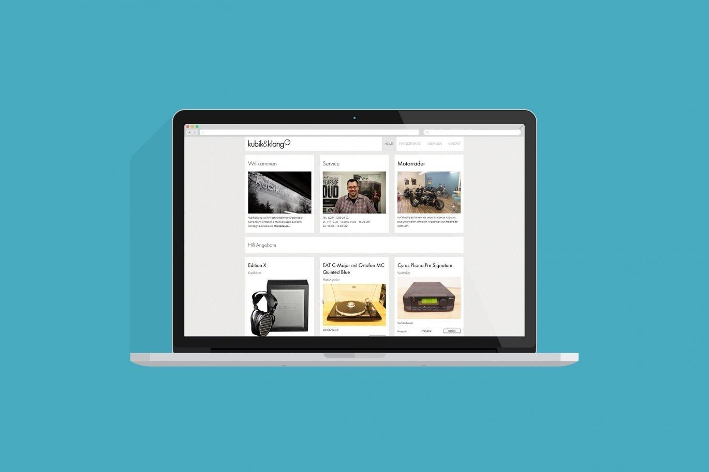 Website Desktop | Responsive Design | visuelles Erscheinungsbild | Corporate Design