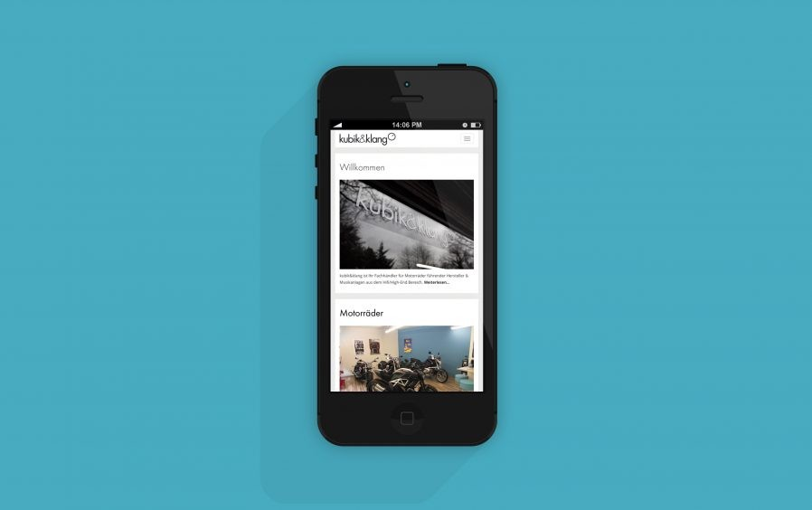 Mobilansicht | Responsive Design | visuelles Erscheinungsbild | Corporate Design