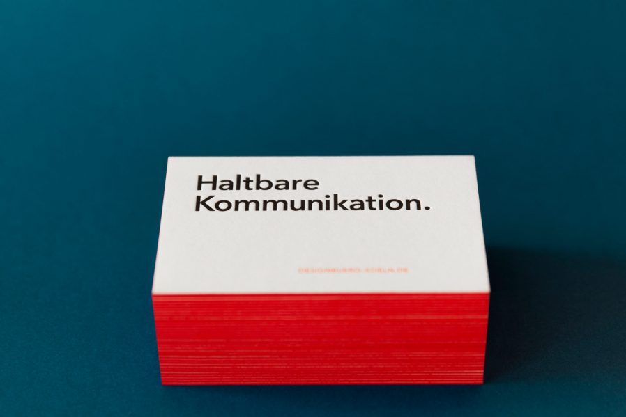 Letterpress | Visitenkarten |haltbare Kommunikation |Farbschnitt |Geschäftsausstattung