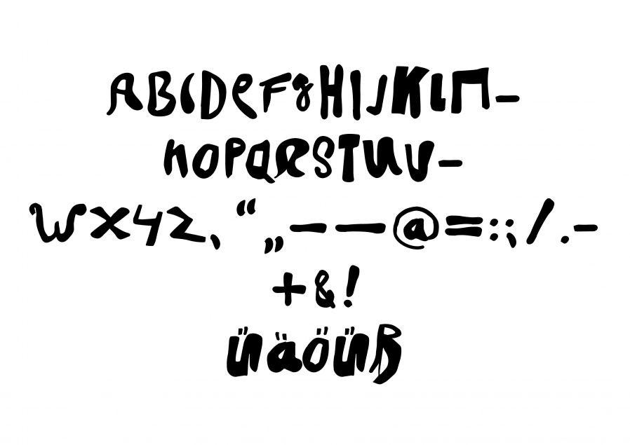 Randel Schrift | Typeface | Typografie Design | Schriftgestaltung | Sonderzeichen