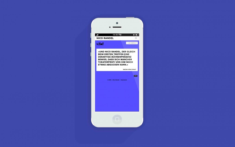Mobilansicht | responsives Onlindedesign | Website Mobil | Künstler | Portfolio-Archiv
