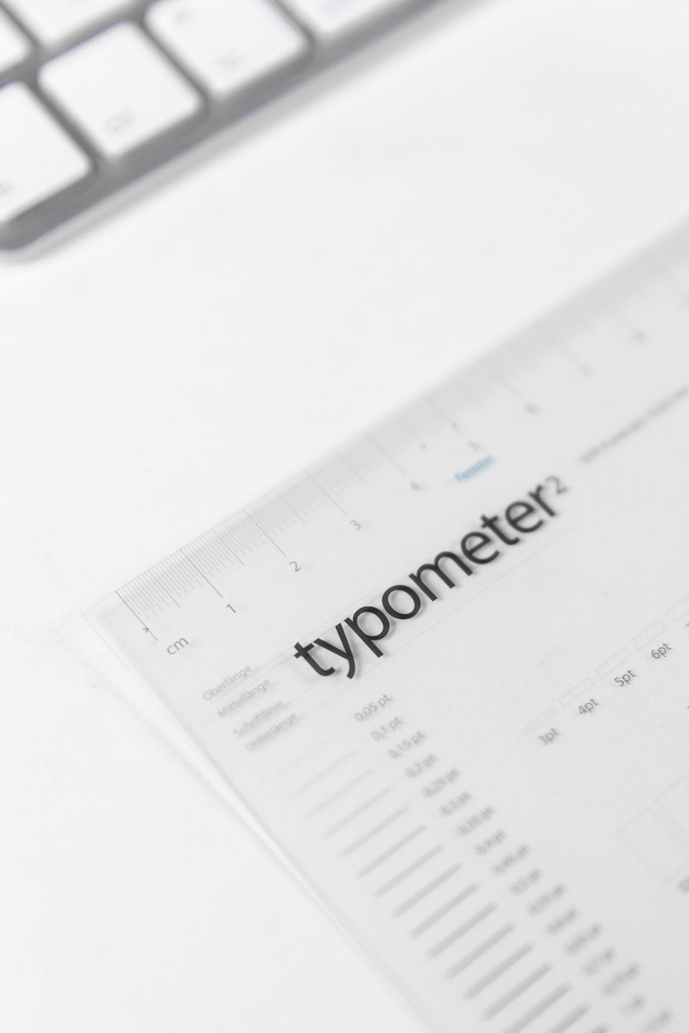 Typometer für die Papier Union