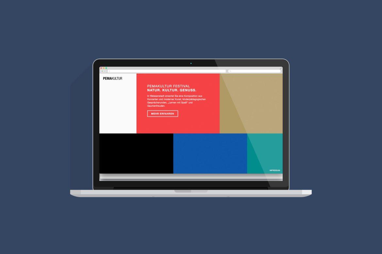 Website Desktop Ansicht | Microsite |Web Design |Online Design