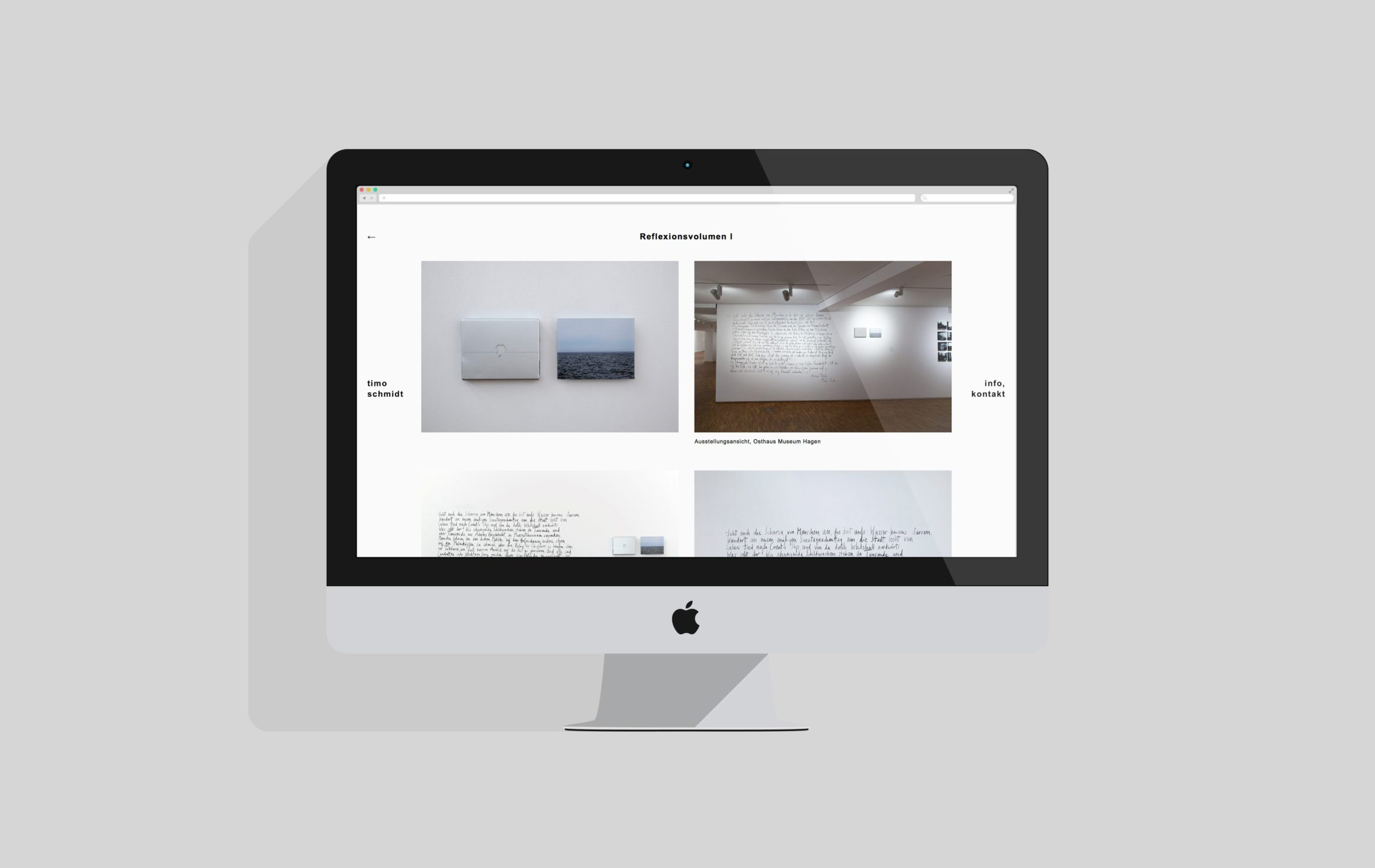 Desktop Ansicht | Künstler | responsive Website | Content Management Systems