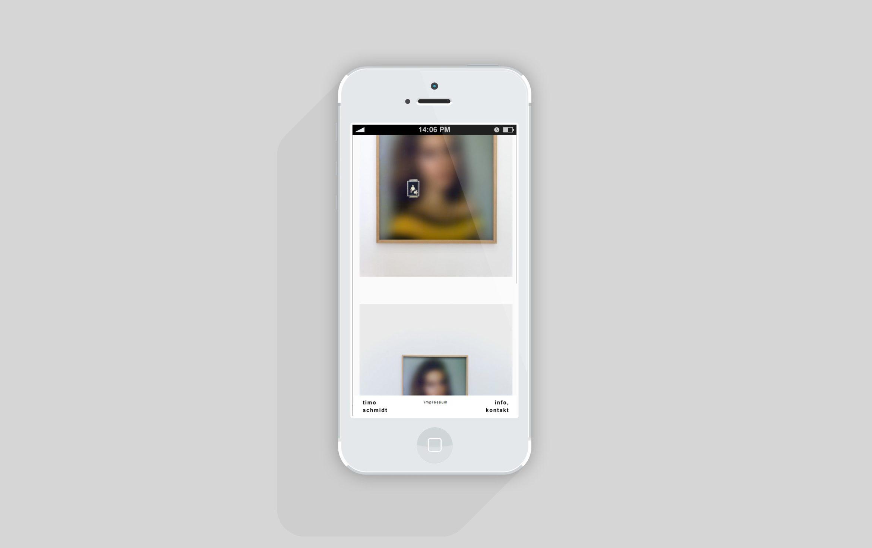 Mobil Ansicht |Künstler | responsive Website | Content Management Systems